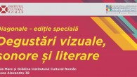 Vineri, 26 septembrie, și sâmbătă, 27 septembrie 2014, la Institutul Cultural Român, Ziua Europeană a Limbilor va fi marcată printr-un program intitulat Degustări vizuale, sonore și literare. Manifestarea face parte din seria Diagonale, dedicată multiculturalismului și dialogului între comunitățile naționale.
