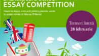 Asociația Shakespeare School pentru Educație prelungește înscrierile la Shakespeare School Essay Competition, concursul național de creație în limba engleză, până pe 28 februarie 2015.
