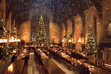 harry potter great hall christmas
